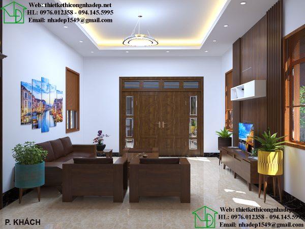 Thiết kế nội thất phòng khách hiện đại NDNTBT2
