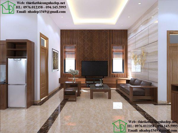 Thiết kế nội thất phòng khách nhỏ đẹp NDTKNT3