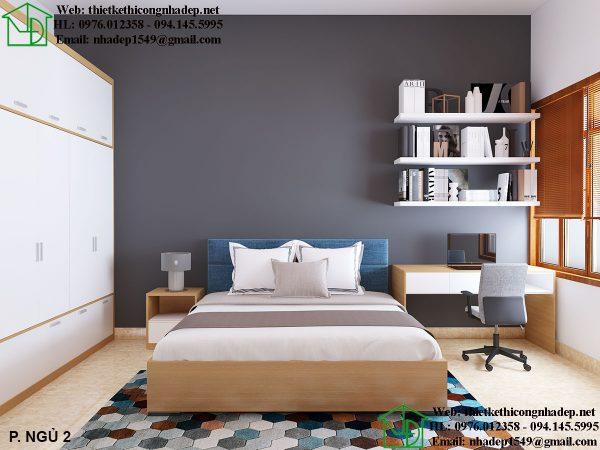 Thiết kế nội thất phòng ngủ 2 đẹp NDNTBT2