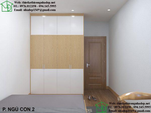 Thiết kế nội thất phòng ngủ chung cư 80m2 NDNTCC37