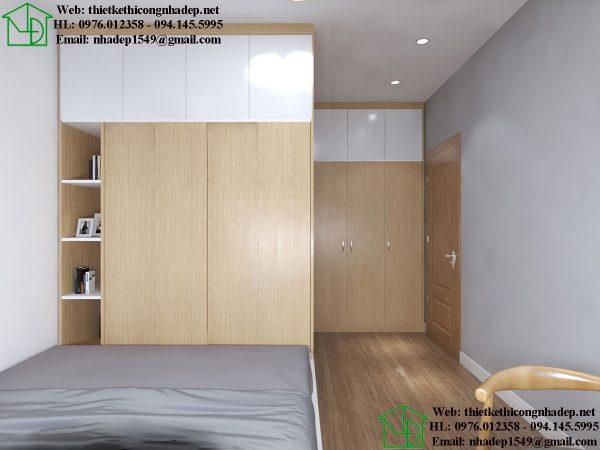 Thiết kế nội thất phòng ngủ chung cư NDNTCC38