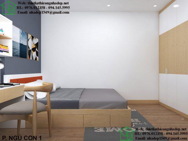 Thiết kế nội thất phòng ngủ con NDNTCC37