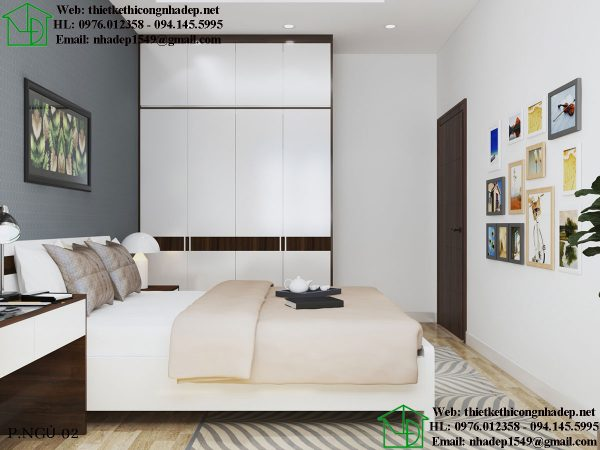Thiết kế nội thất nhà cấp 4 gác lửng đẹp cho phòng ngủ của con.
