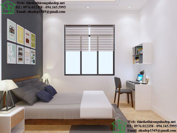 Thiết kế nội thất phòng ngủ con nhà nhỏ đẹp NDTKNT3