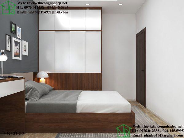 Thiết kế nội thất phòng ngủ đẹp NDTKNT5