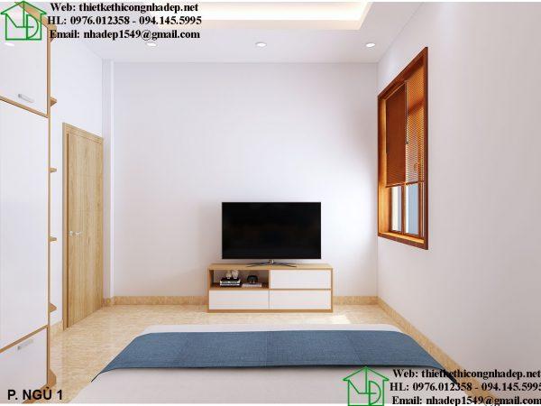 Thiết kế nội thất phòng ngủ hiện đại NDNTBT2