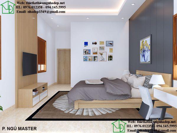 Thiết kế nội thất phòng ngủ master NDNTBT2