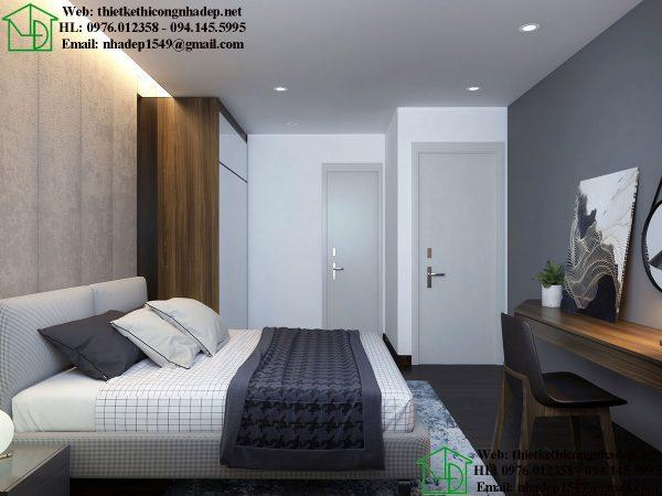 Thiết kế nội thất phòng ngủ master NDNTCC39