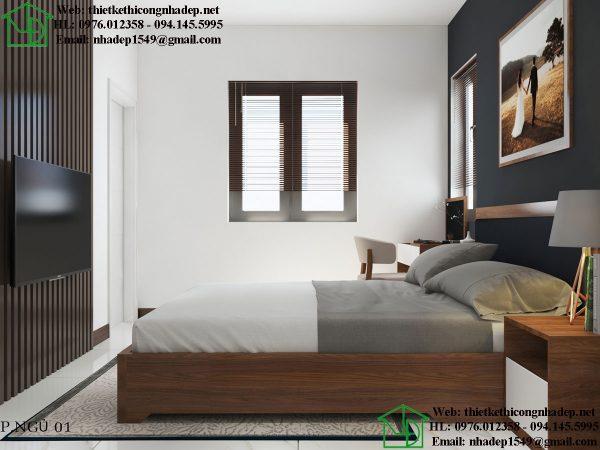 Thiết kế phòng ngủ nội thất nhà cấp 4 đẹp NDTKNT5