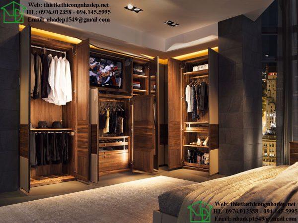 Thiết kế phòng thay đồ đẹp NDNTPN3