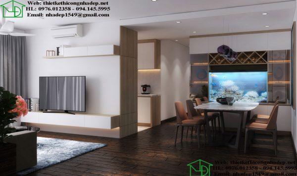 Thiết kế thi công nội thất chung cư hiện đại NDNTCC39