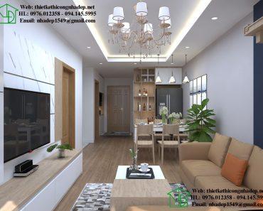 Thiết kế thi công nội thất chung cư trọn gói giá rẻ NDNTCC38