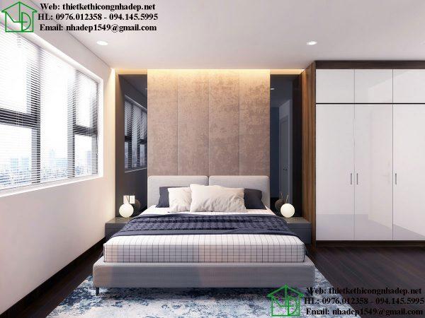 Thiết kế thi công nội thất phòng ngủ chung cư NDNTCC39