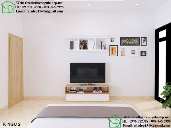 Thiết kế thi công phòng ngủ đẹp hiện đại NDNTBT2