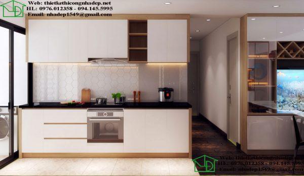 Thiết kế tủ bếp chung cư hiện đại NDNTCC39
