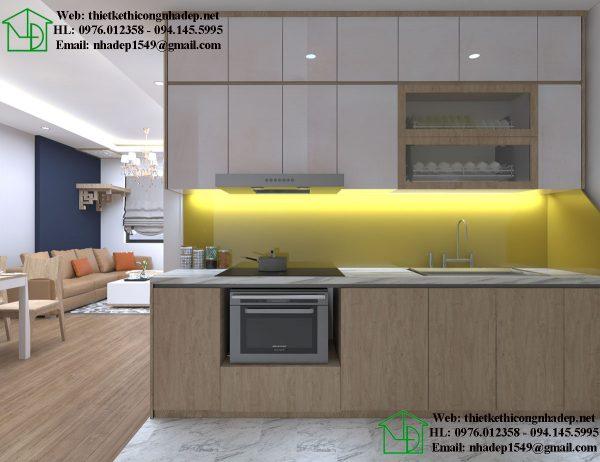 Tủ bếp chung cư hiện đại NDNTCC38