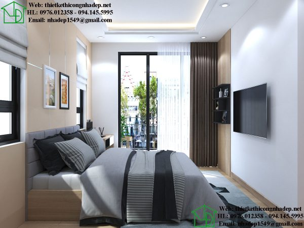 Mẫu thiết kế nội thất phòng ngủ đẹp NDNTPN5