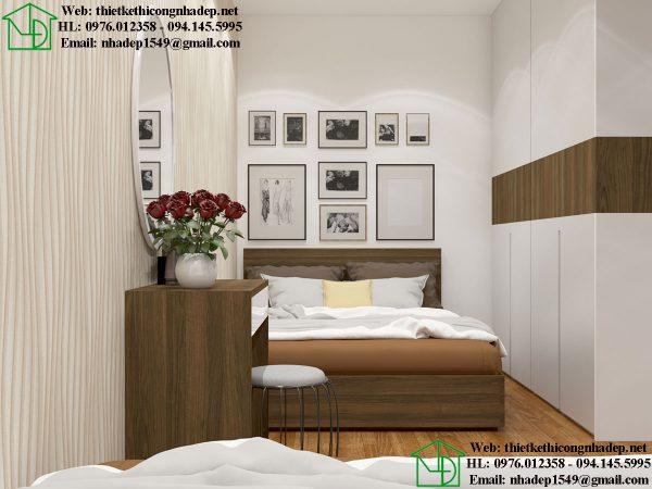 Nội thất phòng ngủ nhà trọ NDNTCC40