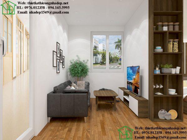 Phòng khách nhà trọ NDNTCC40