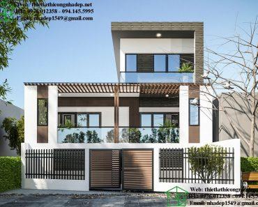 Thiết kế biệt thự phố 2 tầng NDBT2T55