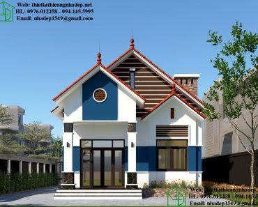 Thiết kế mẫu nhà cấp 4 nông thôn đơn giản NDNC472