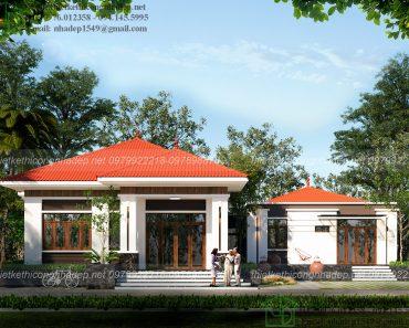 Thiết kế mẫu nhà thái 1 tầng đẹp NDBT1T74