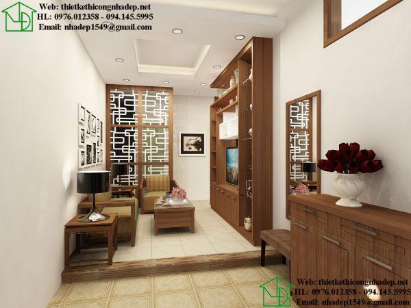 Thiết kế nội thất phòng khách nhà phố NDNTPN6