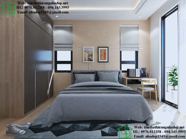 Thiết kế nội thất phòng ngủ số 1 NDNTPN5