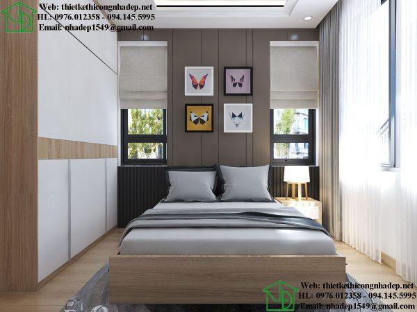 Thiết kế phòng ngủ biệt thự NDNTPN5