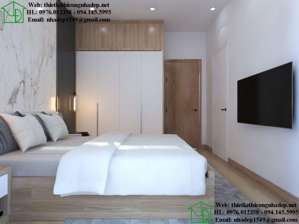 Thiết kế thi công nội thất phòng ngủ đẹp NDNTPN5