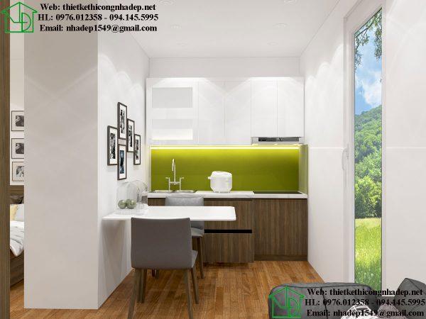 Thiết kế tủ bếp nhà trọ NDNTCC40