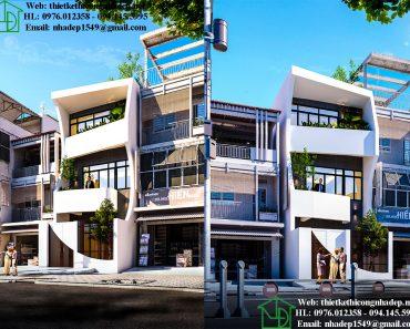 kiến trúc nhà phố 3 tầng đẹp nhất năm 2019 NDNP3T21