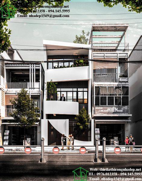 Mẫu thiết kế nhà phố 3 tầng hiện đại NDNP3T21