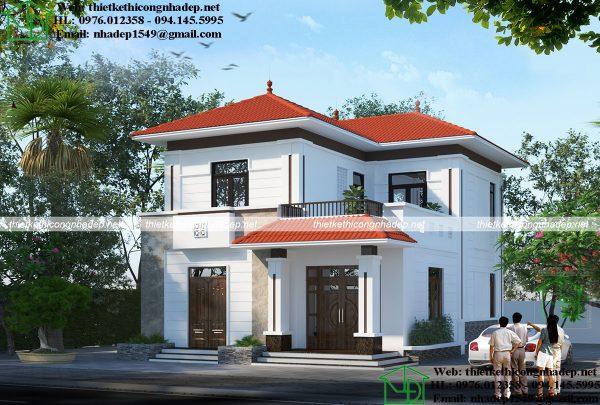 Thiết kế biệt thự 2 tầng tại Phúc Thọ Hà Nội NDBT2T59