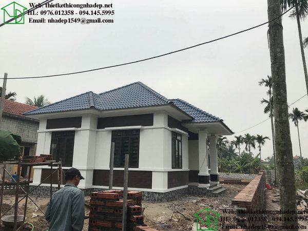 Thiết kế thi công trọn gói nhà đẹp 1 tầng mái thái NDBT1T76