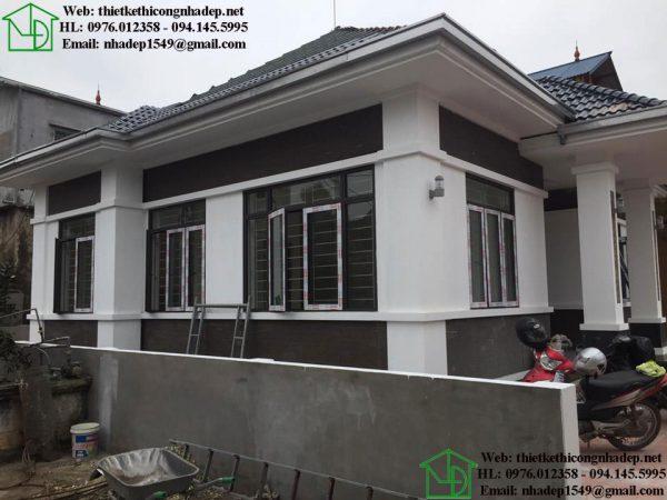 Thiết kế thi công trọn gói nhà thái đẹp 1 tầng NDBT1T77