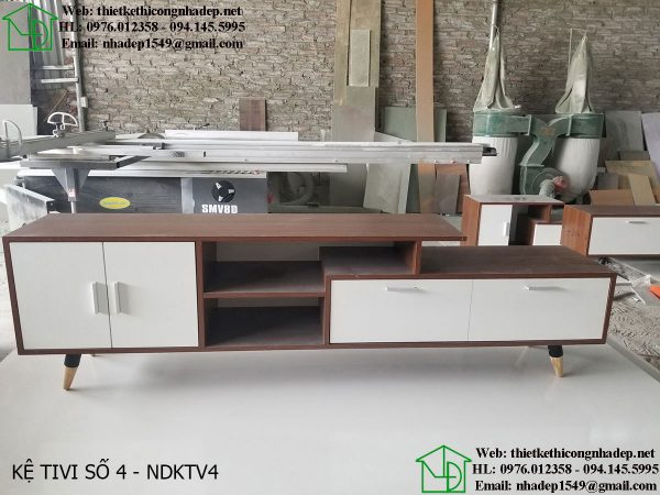 Các mẫu kệ tivi đẹp bằng gỗ NDKTV4