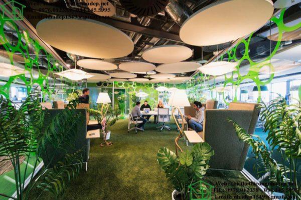 Các mẫu thiết kế văn phòng xanh