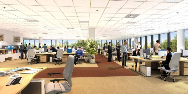Dạng mô đun làm việc rất được ưu tiên sử dụng trong thiết kế văn phòng mở