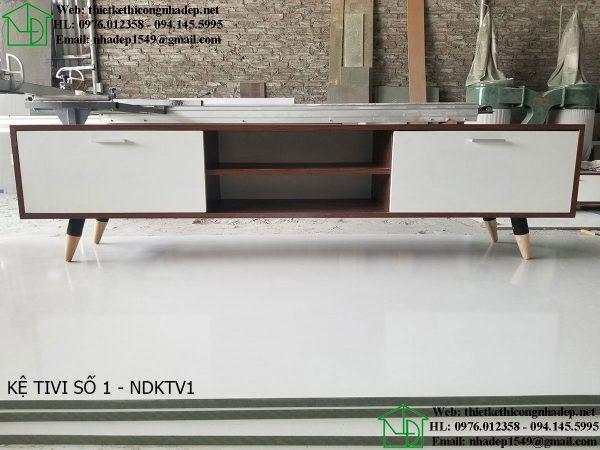 Kệ tivi phòng khách bằng gỗ NDKTV1
