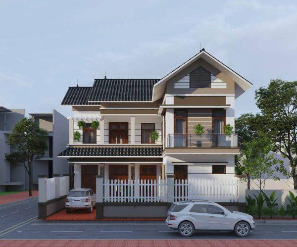 Kĩ năng xây dựng cao trong kiến trúc kiểu nhà mái thái