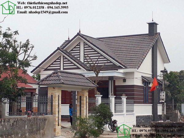 Mẫu biệt thự nhà vườn đẹp tại Đông Hưng NDBT1T32