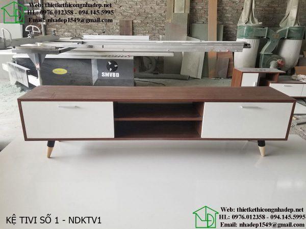 Mẫu kệ tivi bằng gỗ đẹp NDKTV1