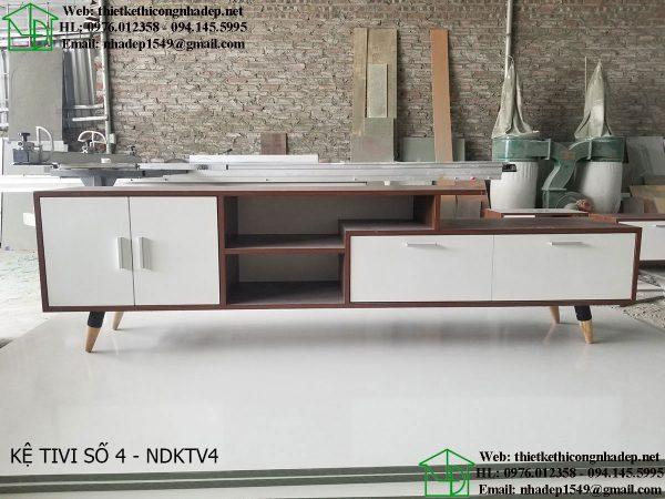 Mẫu kệ tivi đẹp hiện đại NDKTV4