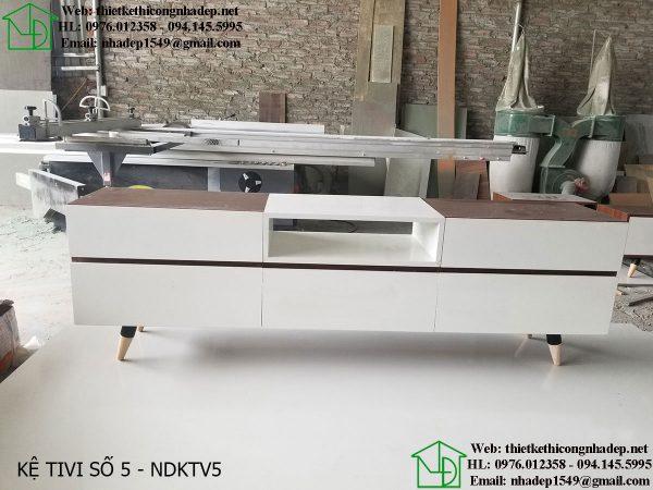 Mẫu kệ tivi phòng khách giá rẻ NDKTV5