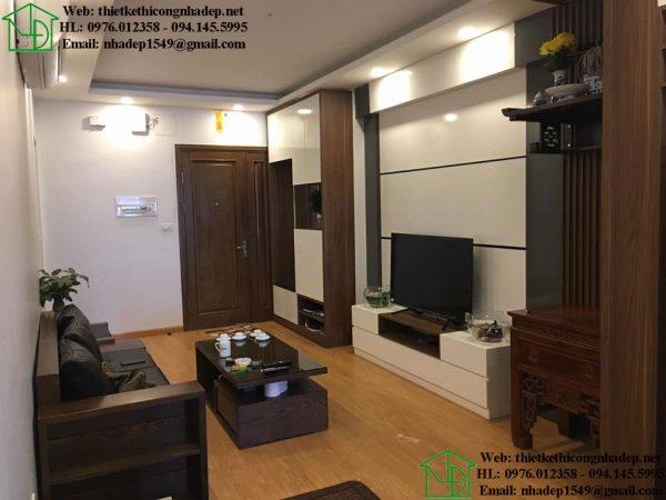 Thi công nội thất chung cư tại Hoàng Mai