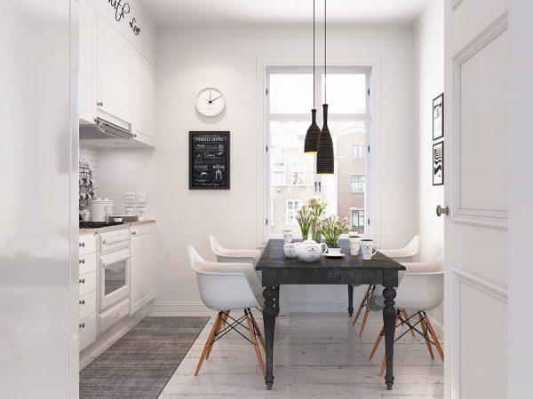 Thiết kế phòng bếp kết hợp phòng ăn