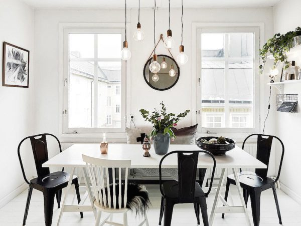 Thiết kế nội thất phòng bếp, phòng ăn chung cư phong cách Scandinavian