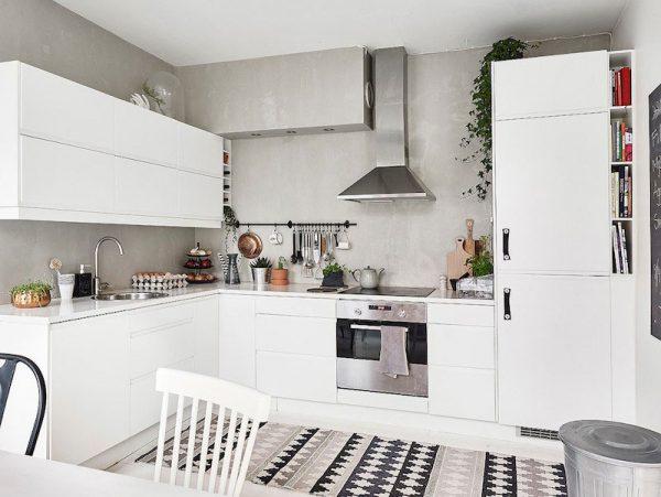 Thiết kế nội thất phòng bếp chung cư phong cách Scandinavian