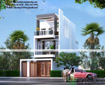 Thiết kế nhà phố 3 tầng 5x14m NDNP3T22